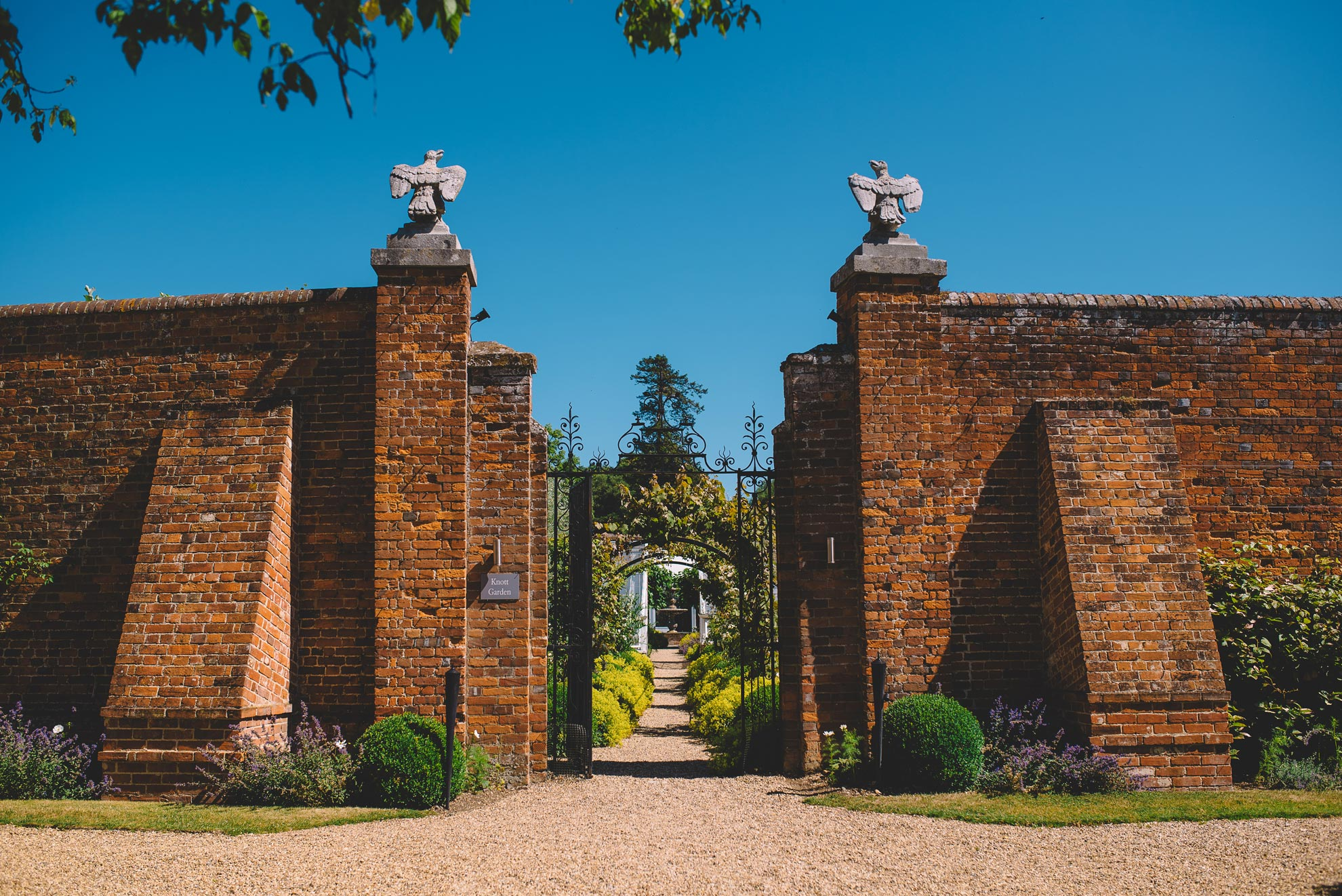 The gardens at this Essex wedding venue are perfect for photos - beautiful outdoor wedding venue