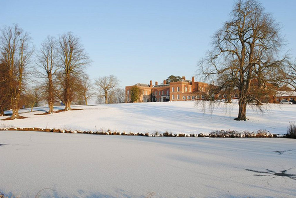 Braxted Park wedding venue in Essex during the Winter