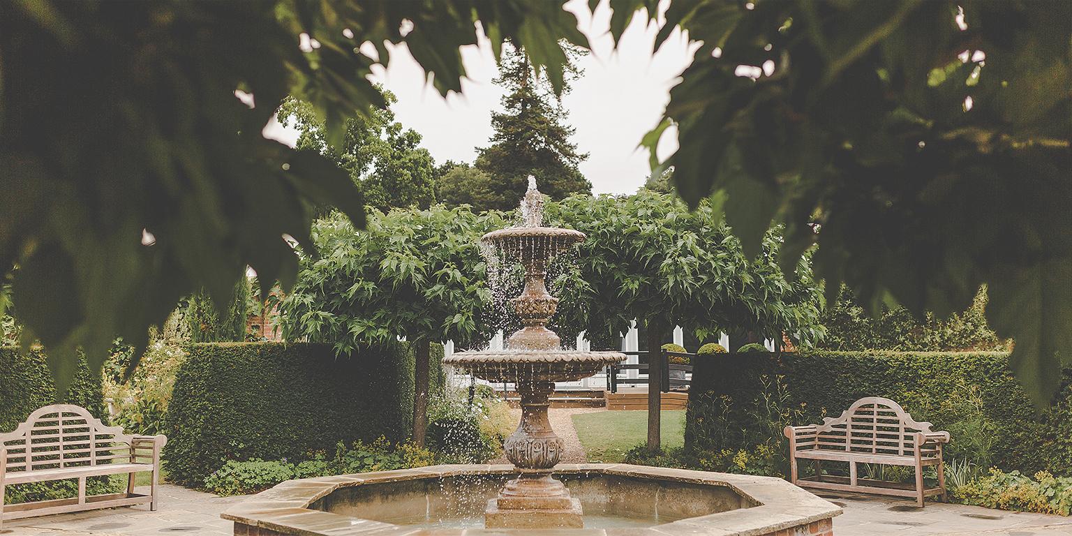 Enjoy the wonderful gardens at this beautiful wedding venue in Essex