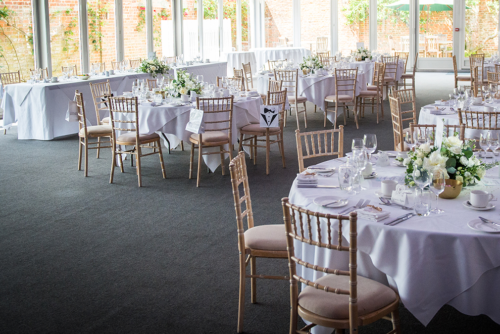 The happy couple had stunning wedding centrepieces on the tables – wedding ideas
