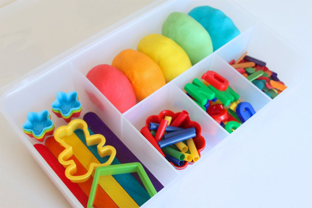 Colourful play dough for children at weddings