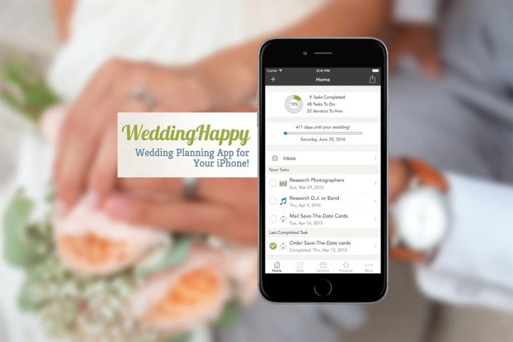 Wedding Happy App to help you with a wedding task list