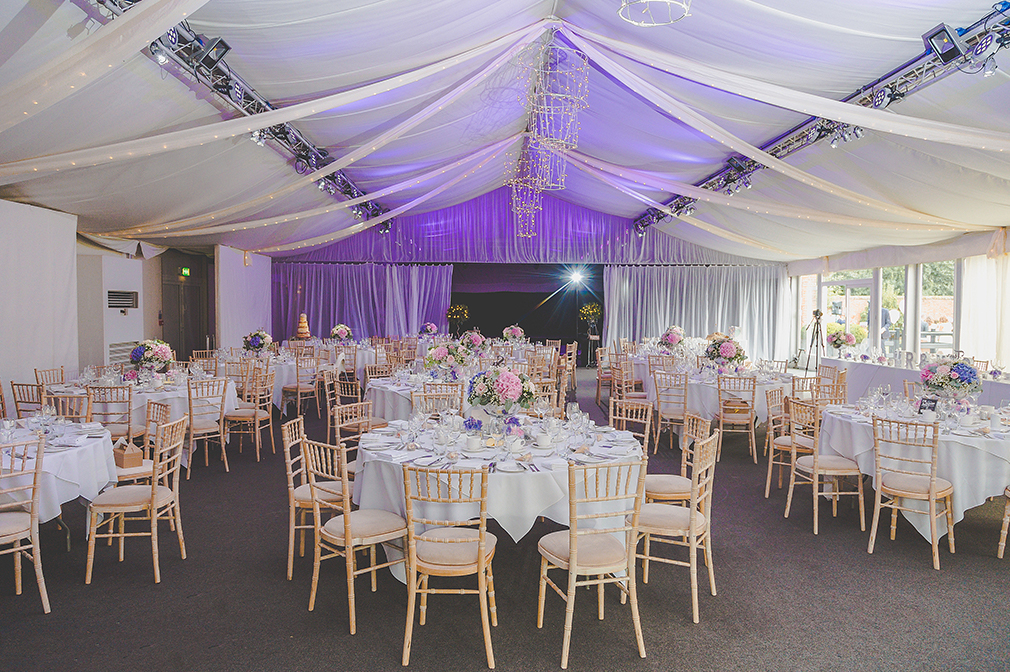 The Pavillion is the perfect space for a wedding with neutral décor suited to all wedding themes