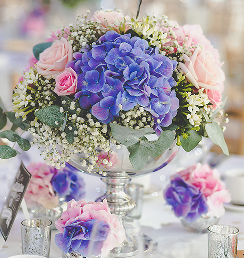 Purple wedding flowers look beautiful for a summer wedding – wedding ideas