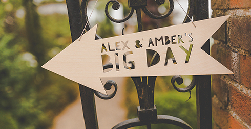 Wedding signs look so pretty for a rustic a wedding theme – country wedding
