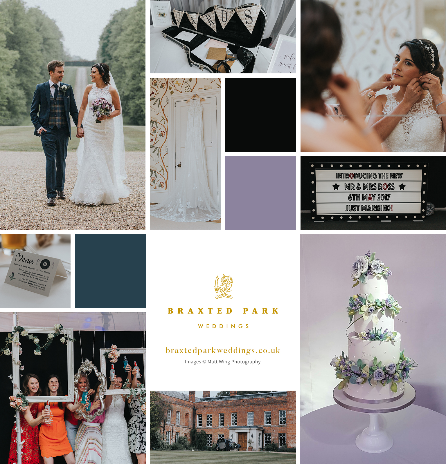 Rachelle and Adrian's real life wedding at Braxted Park