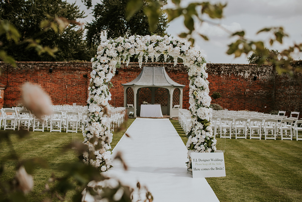 The stunning Walled Garden at Braxted Park is the perfect space for an outdoor wedding