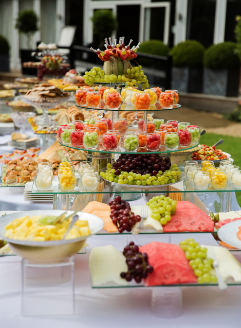 If you don't fancy a formal sit-down meal treat guests to lavish wedding buffet – wedding catering