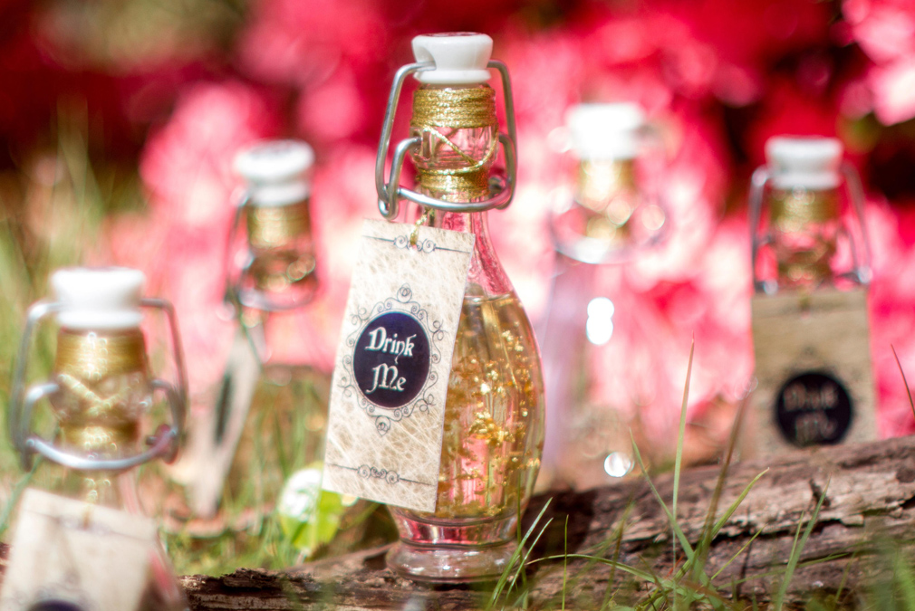 For an enchanted forest themed wedding at Braxted Park treat guests to love potion wedding favours