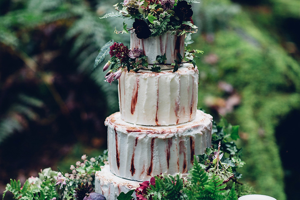 For an enchanted forest themed wedding at Braxted Park a woodland inspired wedding cake is a must