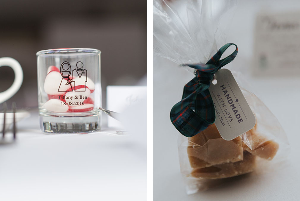 Create personalised wedding favours for your romantic wedding at Braxted Park