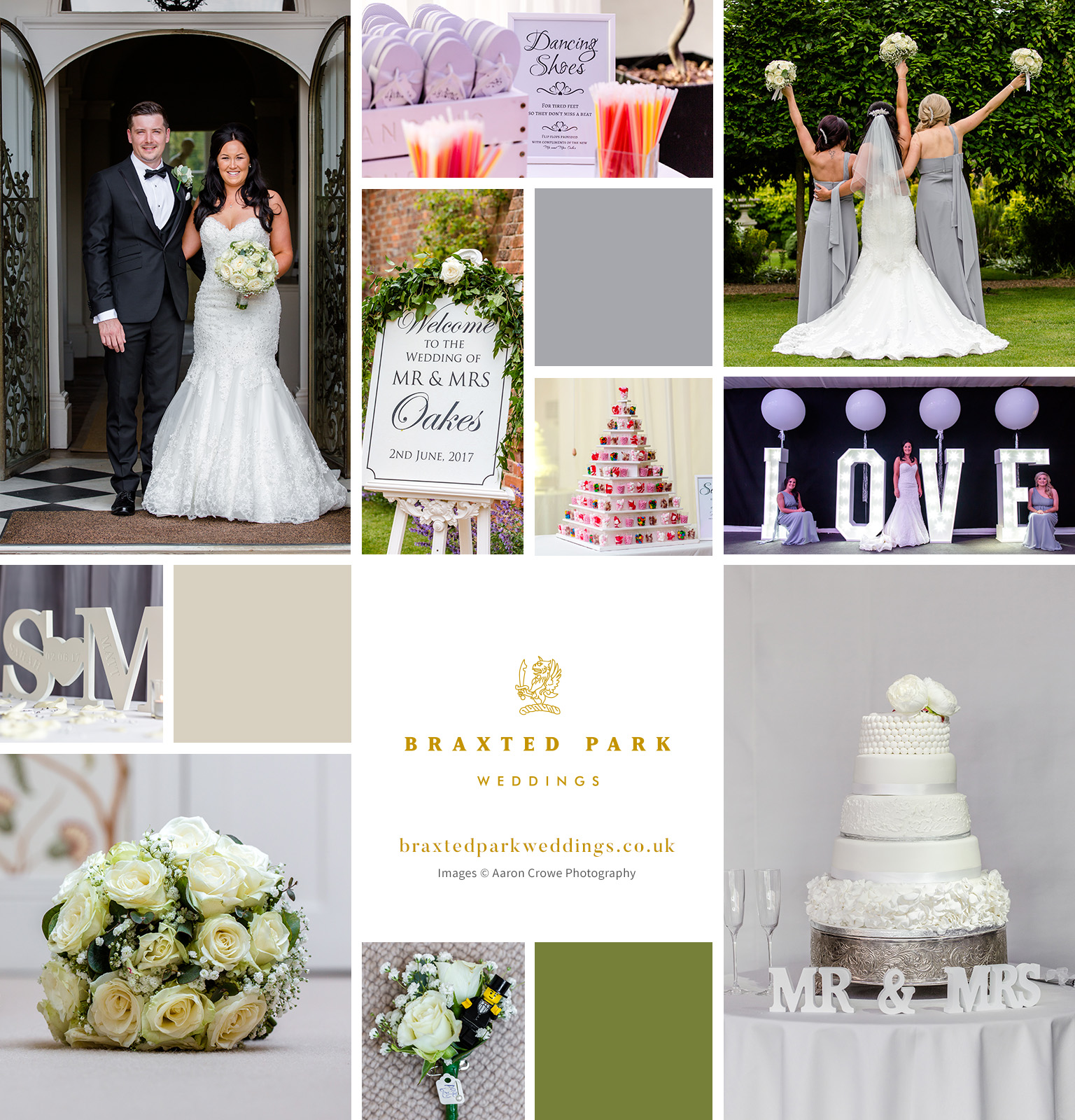 Sarah and Matthew's real life wedding at Braxted Park