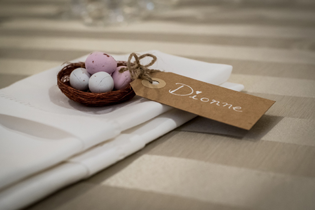 For an Easter wedding at Braxted Park give your guests tasty chocolate eggs as wedding favours