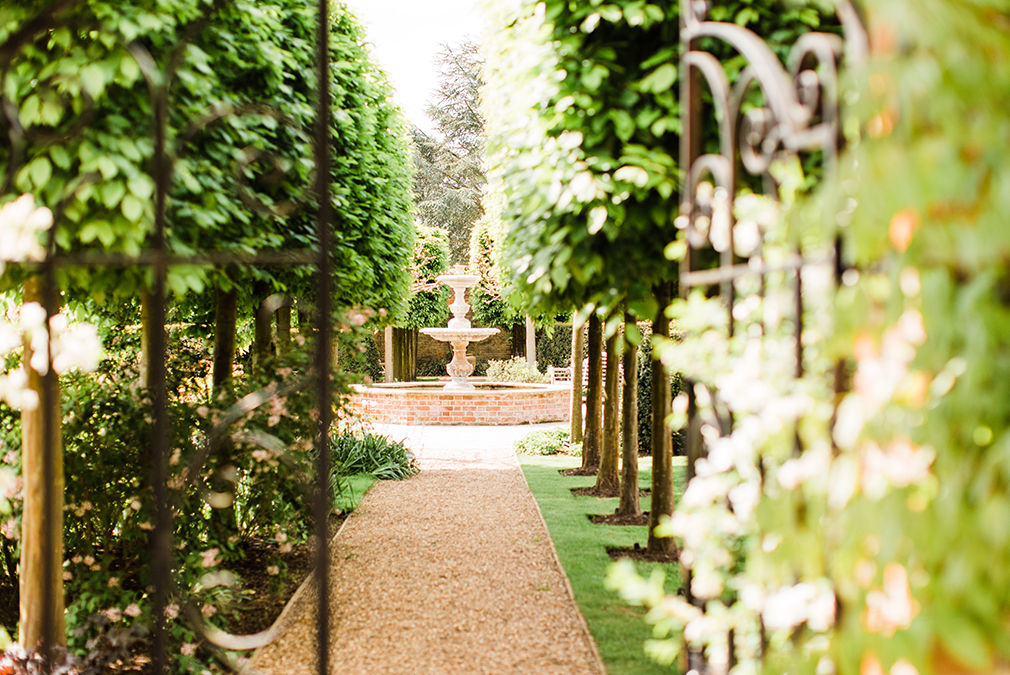 Explore the walled garden at Braxted Park during your outdoor wedding